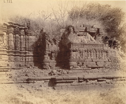Close view of south side of mandapa of ruined Maheshvara Temple, Patan, Chalisgaon District
